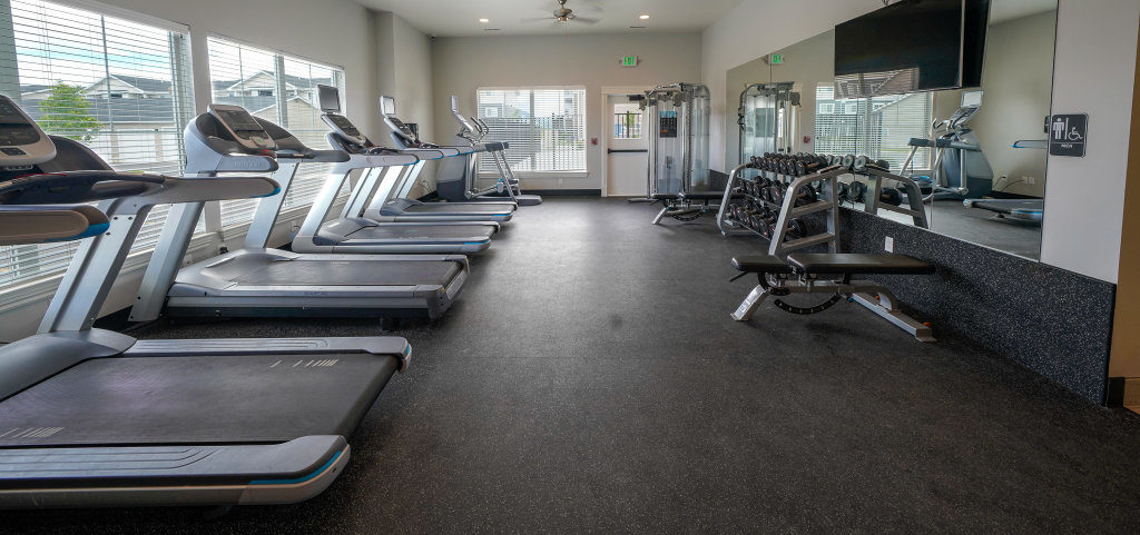 Baxter Meadows Clubhouse workout room